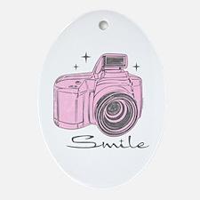 Camera Smile Ornament (Oval)