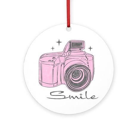 Camera Smile Ornament (Round)