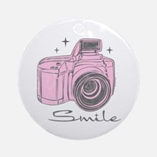 Camera Smile Ornament (Round)