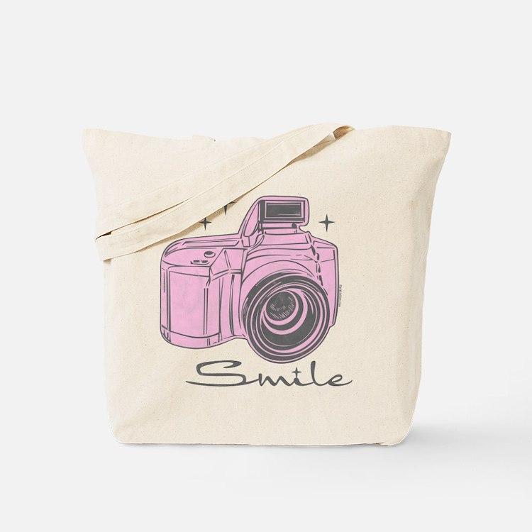 Camera Smile Tote Bag