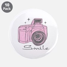 """Camera Smile 3.5"""" Button (10 pack)"""