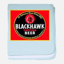Iowa Beer Label 1 baby blanket