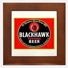 Iowa Beer Label 1 Framed Tile
