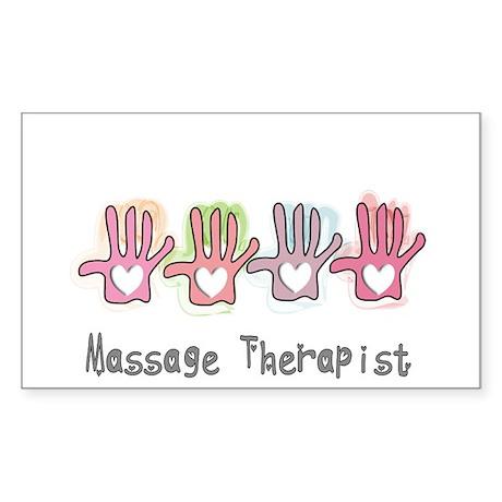 Massage Therapy Sticker (Rectangle)
