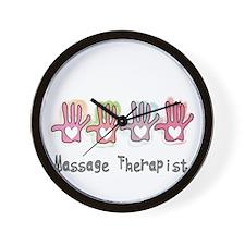 Massage Therapy Wall Clock