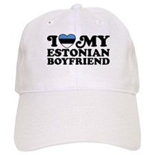 I Love My Estonian Boyfriend Baseball Cap