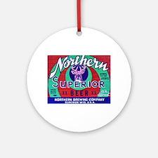 Wisconsin Beer Label 13 Ornament (Round)
