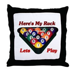 Here Is My Rack Throw Pillow