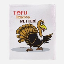 Tofu Not Turkey Throw Blanket