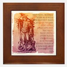 St. Michael Prayer in Latin Framed Tile