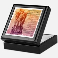 St. Michael Prayer in Latin Keepsake Box