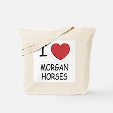 I heart morgan horses Tote Bag
