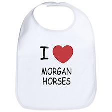 I heart morgan horses Bib