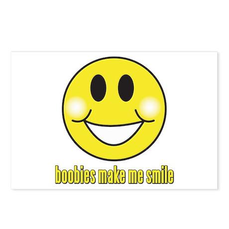 Boobies Make Me Smile Postcards (Package of 8)