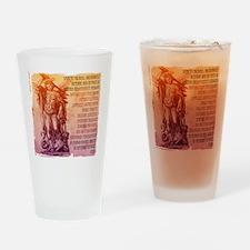St. Michael Prayer in Latin Drinking Glass