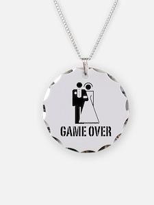 Game Over Bride Groom Wedding Necklace