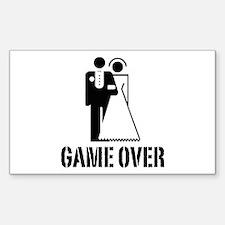 Game Over Bride Groom Wedding Decal