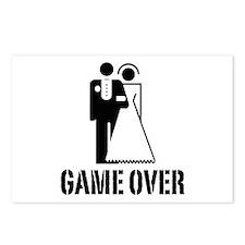 Game Over Bride Groom Wedding Postcards (Package o