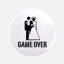 "Game Over Bride Groom Wedding 3.5"" Button (100 pac"