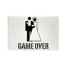 Game Over Bride Groom Wedding Rectangle Magnet