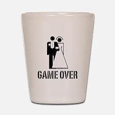 Game Over Bride Groom Wedding Shot Glass