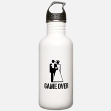 Game Over Bride Groom Wedding Water Bottle