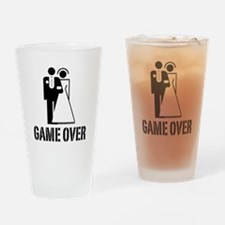 Game Over Bride Groom Wedding Drinking Glass