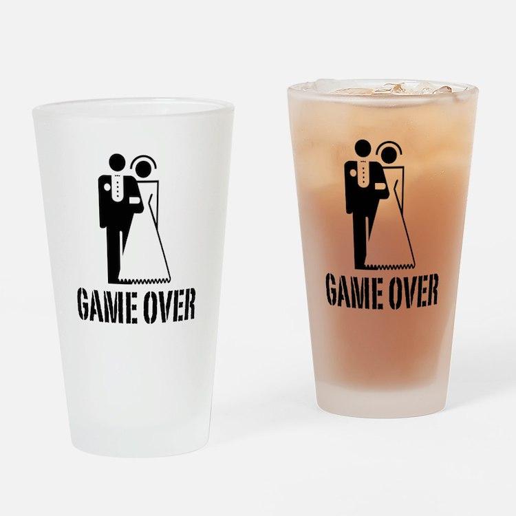 Game Over Bride Groom Wedding Drinking Glass