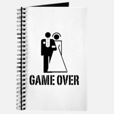 Game Over Bride Groom Wedding Journal