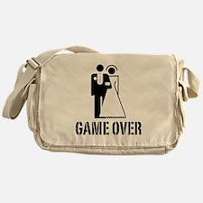 Game Over Bride Groom Wedding Messenger Bag