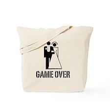 Game Over Bride Groom Wedding Tote Bag