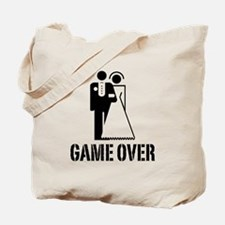 Game Over Bride Groom Wedding Tote Bag