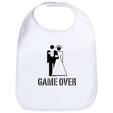 Game Over Bride Groom Wedding Bib