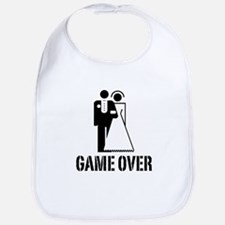Game Over Bride Groom Wedding Bib