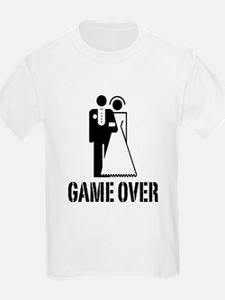Game Over Bride Groom Wedding T-Shirt