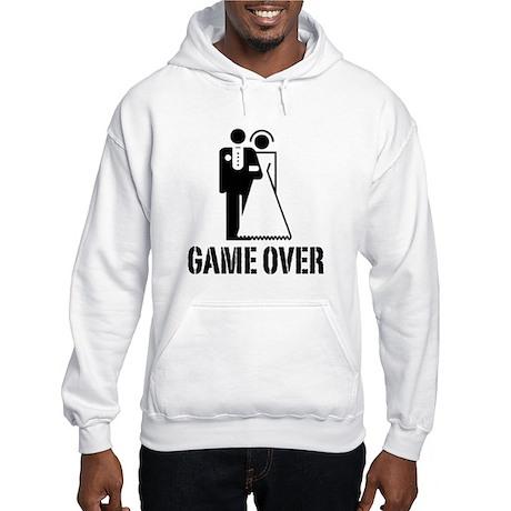 Game Over Bride Groom Wedding Hooded Sweatshirt