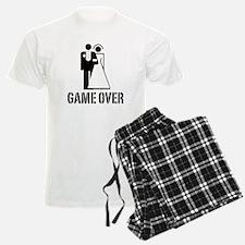 Game Over Bride Groom Wedding Pajamas