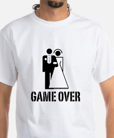 Game Over Bride Groom Wedding Shirt
