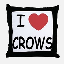 I heart crows Throw Pillow