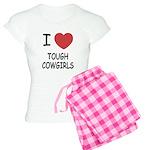 I heart tough cowgirls Women's Light Pajamas