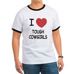 I heart tough cowgirls Ringer T