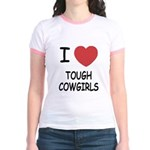 I heart tough cowgirls Jr. Ringer T-Shirt