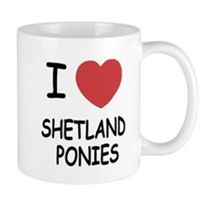 I heart shetland ponies Mug