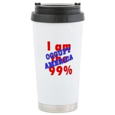 I am the 99% OCCUPY Travel Coffee Mug