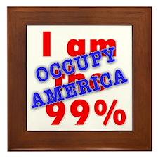 I am the 99% OCCUPY Framed Tile