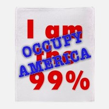I am the 99% OCCUPY Throw Blanket