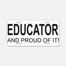 The Proud Educator Aluminum License Plate