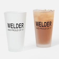 The Proud Welder Drinking Glass