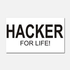 Hacker For Life Car Magnet 20 x 12