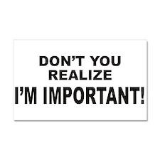 I'm Important Car Magnet 20 x 12